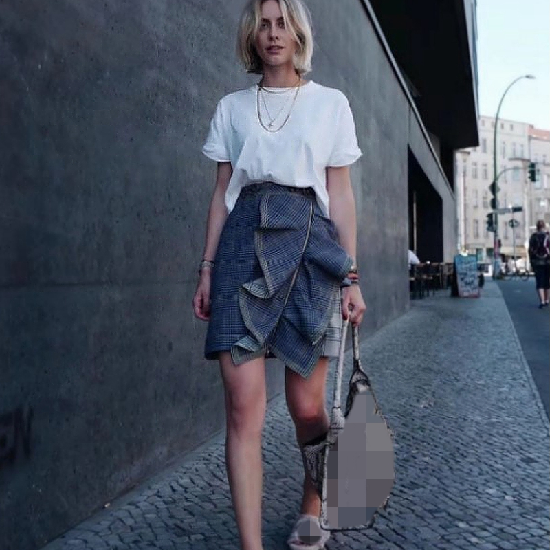 Office Women Flounce Skirt Mini Skirts