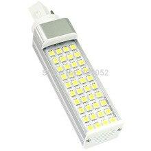 10 X AC110V-240 V 220 v Высокая яркость 40 Светодиоды smd 5050 свет мозоли СИД g24 e27 9 Вт светодиодные лампы освещения теплый белый чистый белый