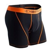 Boxer pour hommes, slip en maille à séchage rapide, respirant, doux, sous vêtement serré, taille américaine S XXL