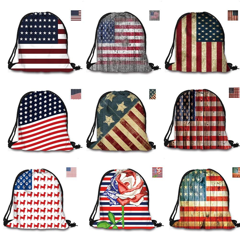 Custom Bag 3D ispis vrpca vreća američka zastava ruksak ispisuje - Ruksaci - Foto 4