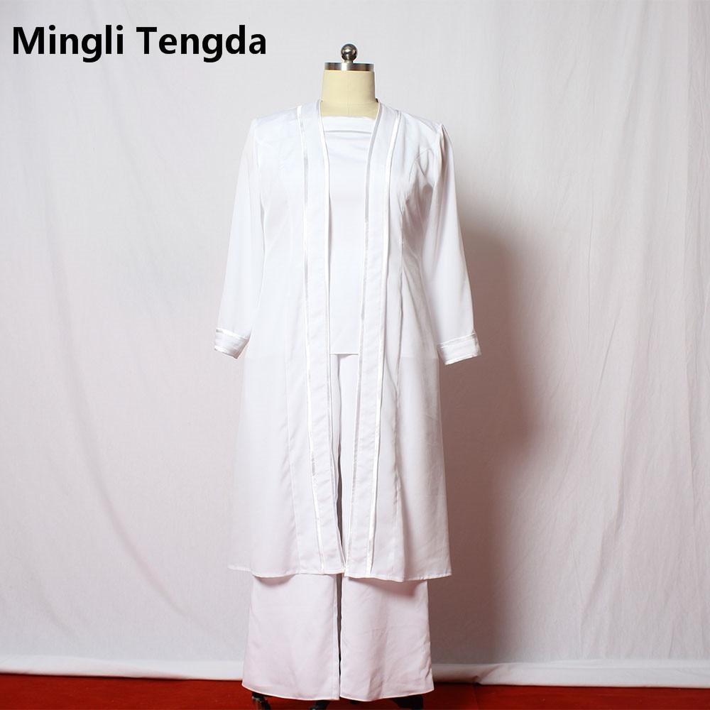 На заказ мать брючные костюмы невесты с длинным жакетом размера плюс/шифон брюки костюм свадьба Vestido De Madrinha