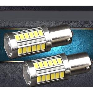 Image 2 - 2 個 Led 電球ライセンスプレートライト 1156 ホワイト 33SMD RV キャンピングカーインテリアランプバックアップリバースライト 1141 1073