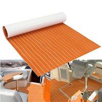 78 X23 Orange White Line Self Adhesive EVA Foam RV Touring Car Mat Teak Sheet Boat