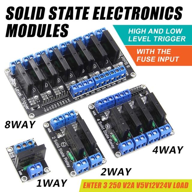 WAVGAT 5 v Relais 1 2 4 8 Kanal OMRON SSR High Low Level Solid State Relais Modul 250 v 2A Für Arduino