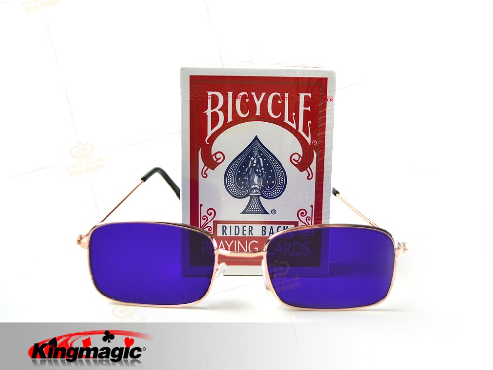 Kingmagic Best Selling Bicycle Marked Cards Free Marked Cards <font><b>Glasses</b></font> Poker Cheat Gamble Cheat Magic Tricks