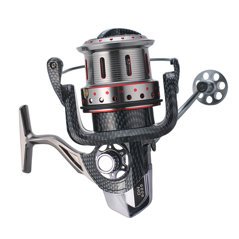 YUYU Carbon Fishing Spinning Reel 9000 10000 Metal Spool 14+1BB Saltwater Catfish Surfcasting Fishing Reel Distant Wheel