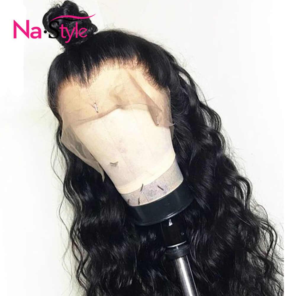 Glueless pełne koronkowe peruki ludzki włos peruka z kucykiem pełne koronkowe peruki ludzki włos z Baby włosy włosy luźne fale peruka dla kobiet czarny peruka peruwiański