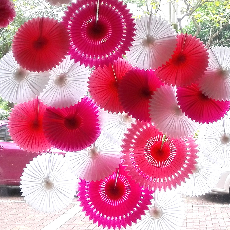 8/10/12inch Tissue Paper Fans Honeycomb Pinwheels Hollow Hanging Flowers Birthday Party Wedding Baby Shower Decoration