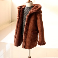 JKP 2018 Fashion kids clothing winter children Imitation fur coat boy leather jacket girl fur thick coat Outerwear FPC 45