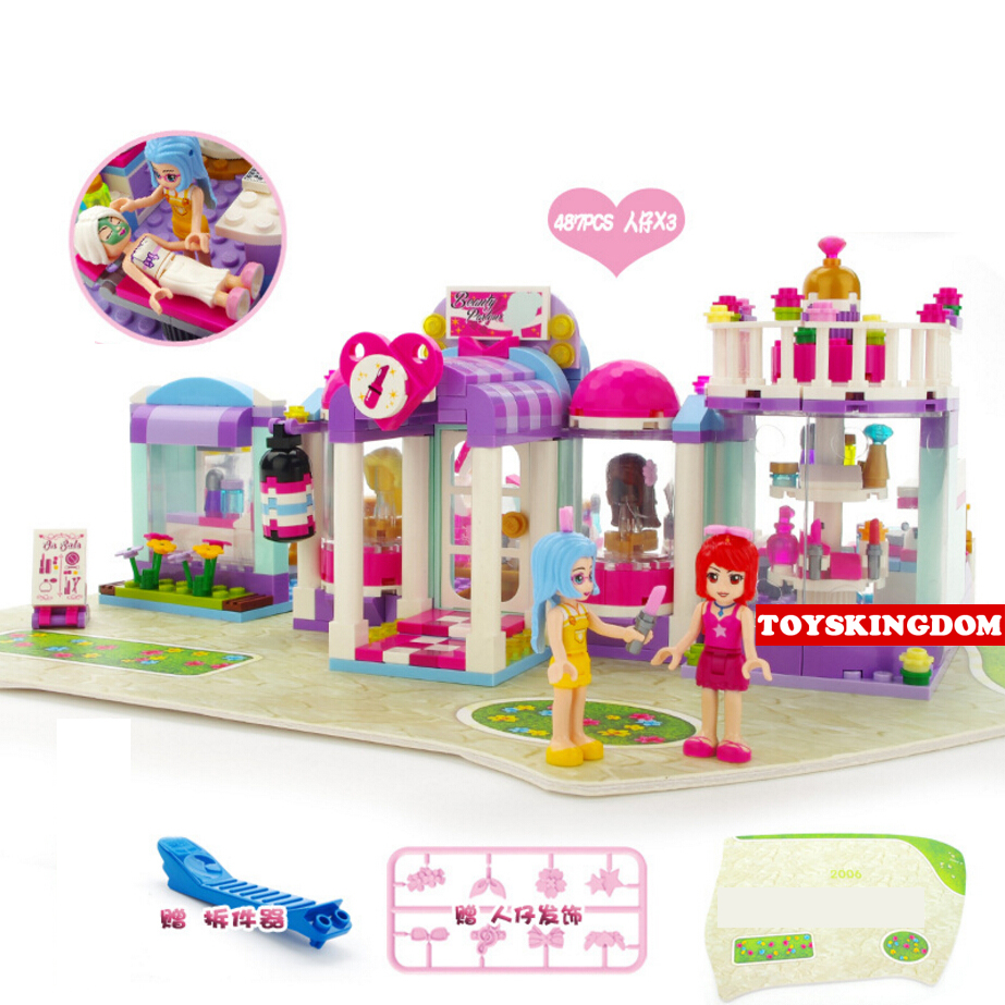 Hot city my girls friends clubs Fashion Styling Hair salon store scenes building block cherry abby figures bricks toys for kids