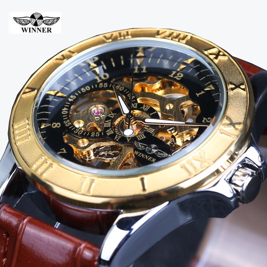 Winner 2017 Navigator Series Men Watches Top Brand Luxury Skeleton Mechanical Watch Clock Men Gold Watches Men Wristwatch Montre t motor series mn3515 navigator series