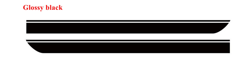 Для BMW MINI CooperS F55 F56 F54 R55 наклейки для боковой юбки автомобиля Аксессуары для кузова подходят на 3-5 дверей Спортивные полосы наклейки - Название цвета: Glossy Black