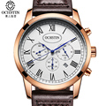 OCHSTIN Montre Homme Mens Watches Top Brand Luxury Roma Style Simple Sport Watch Men Leather Strap Waterproof Hour Date Clock