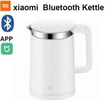 Najnowszy oryginalny Xiaomi Mijia termostatyczne czajniki elektryczne 1.5L inteligentny termostat czajnik sterowania przez telefon komórkowy Mi domu app