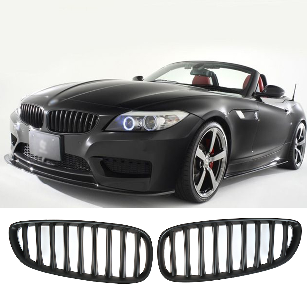 Bmw Z4 35is Price: Matte Black Front Bumper Kidney Grill For BMW 2009 2015 Z