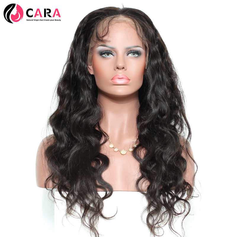 CARA 250% Density Lace Front Wigs Body Wave 100% Human Hair Pre Plucked Natural Hairline Non-Remy Hair