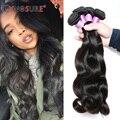 2017 Новый CYNOSURE Волос Перуанский Девы Волос Объемной Волны 3 Связки Человеческих Волос Объемной Волны Перуанский Девы Волос Оптом