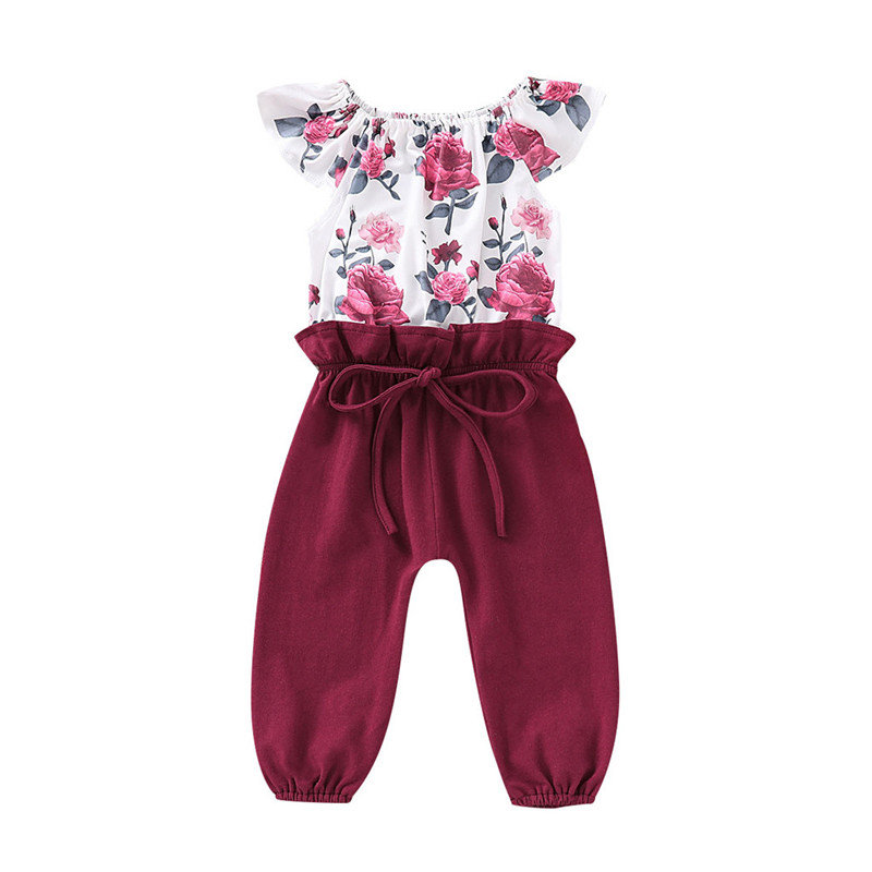 Telotuny summer spring Baby   Romper   Long Sleeves Cotton Blend Baby Patchwork Floral Printed Newborn Baby Girls Clothes Jan3