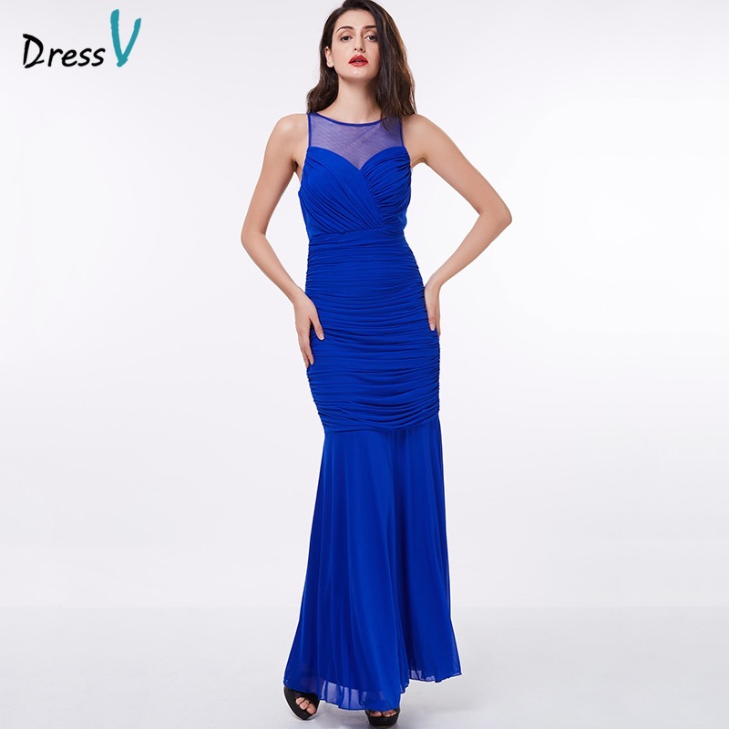 Dressv evening dress cheap royal blue sheath sleeveless floor length grape formal party dress black gown long evening dresses