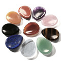 Latest Design 1 pc Thumb Worry Stone - Palm Stones Pocket Natural Chakra Reiki Healing Crystals Therapy Geometry With Gift Box
