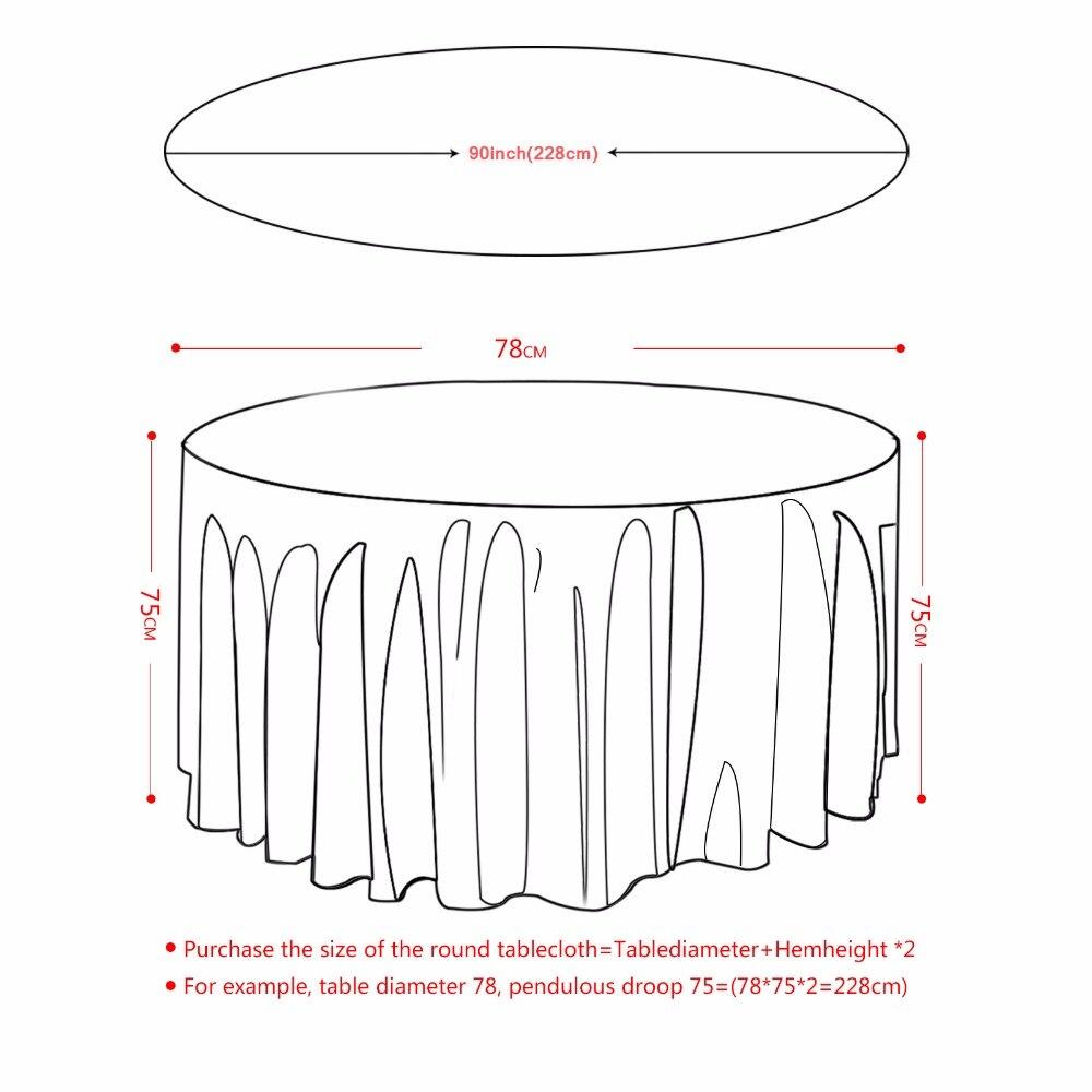 10 pièces nappe de Table ronde nappe de luxe Polyester Satin couverture de Table étanche à l'huile de mariage Restaurant Banquet décoration de la maison-in Nappes from Maison & Animalerie    2