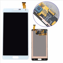 100% Gurantee LCD For Samsung Galaxy Note 4 N9100 Best Quality LCD Display Touch Screen Digitizer Assembly White Color