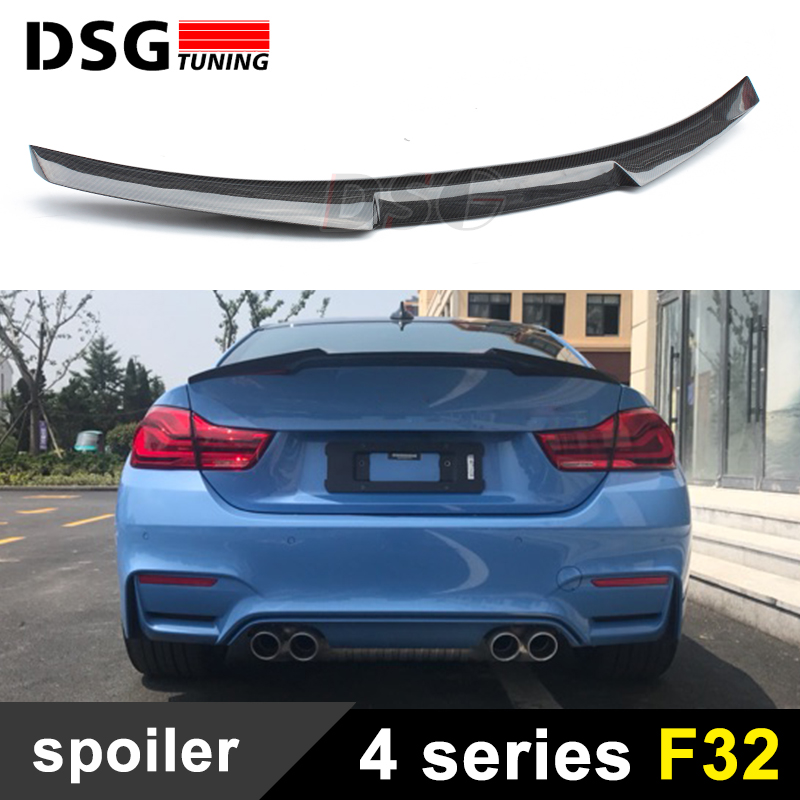 F32 F33 m4 style carbon fiber rear trunk wings spoiler for bmw 4 series f32 coupe f33 convertible 2-door 420i 428i 435i p style for bmw f32 spoiler carbon fiber material 4 series coupe f32 carbon spoiler 2 door carbon wings 2014 2015 2016 up