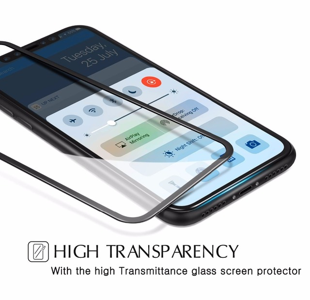 SuaGet 5D Tempered Glass Screen Protector For Apple iPhone X Edition Full Cover