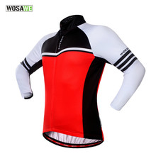 WOSAWE 2018 Wool Warm Winter team long sleeve cycling jersey bike clothing  Roupa De Ciclismo thermal Comfortable cycling Jacket dff97c2d3