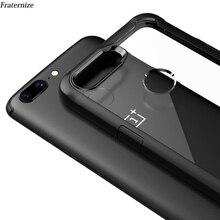 OnePlus 5 T กรณีกันกระแทกเคสสำหรับ OnePlus 5 T 5 6 ซิลิโคน TPU นุ่ม + HARD อะคริลิคโปร่งใสฝาครอบป้องกันกลับเต็มรูปแบบ