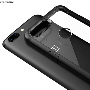 Image 1 - Oneplus 5t Case shockproof Clear Case For OnePlus 5t 5 6 Soft TPU Silicone+Hard Acrylic transparent Full Protective Back Cover