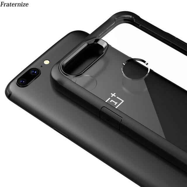 Oneplus 5t étui antichoc étui transparent pour Oneplus 5t 5 6 Silicone souple + acrylique dur transparent couverture arrière de protection complète