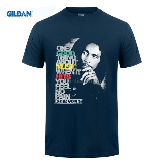 6fe589738 GILDAN mens t shirts Newest 2018 Fashion Stranger Things T Shirt Men Bob  Marley Men's Good Music Hits T-shirt
