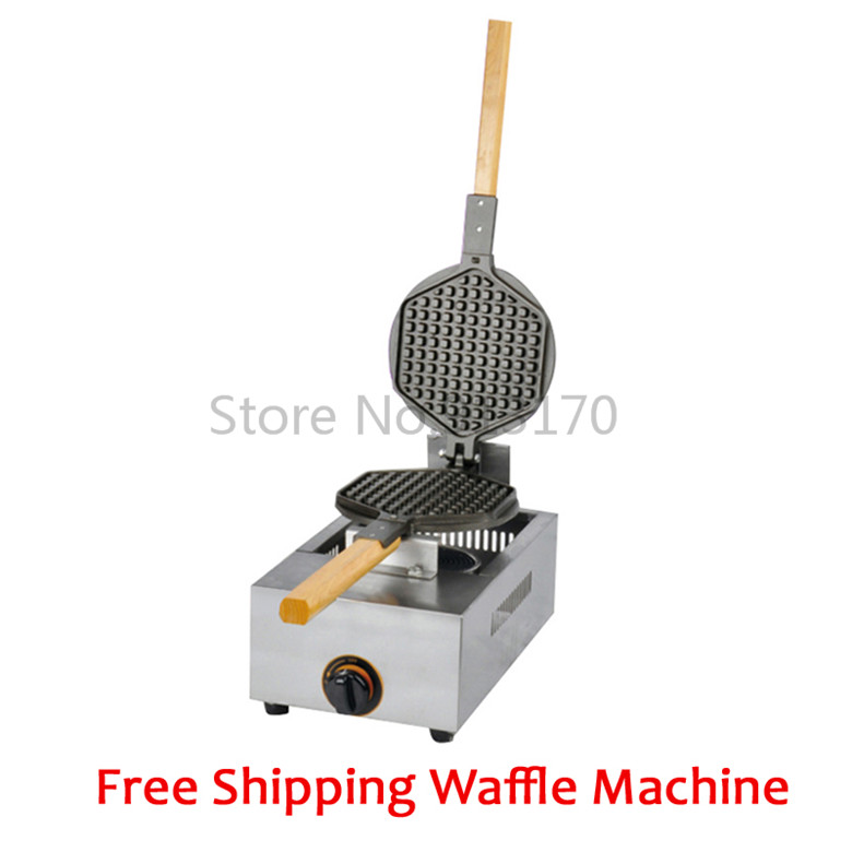 Free Shipping commercial waffle machine baker kitchen appliance with non stick waffle pan stainless steel waffle maker