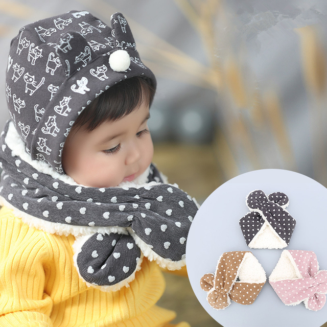 3a543a368f1c Baby Scarf Winter Thickened Corduroy Wool Collar Scarves Infant ...