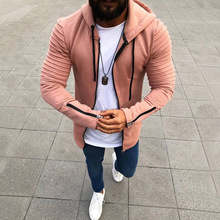 Men's Hooded Tops Men's Hoodie Zip Up Hoodie Men's Casual Coat Jacket Fashion Casual Solid Man's Hoodies Male's Hooded Coat D40 zip up two tone hooded track jacket
