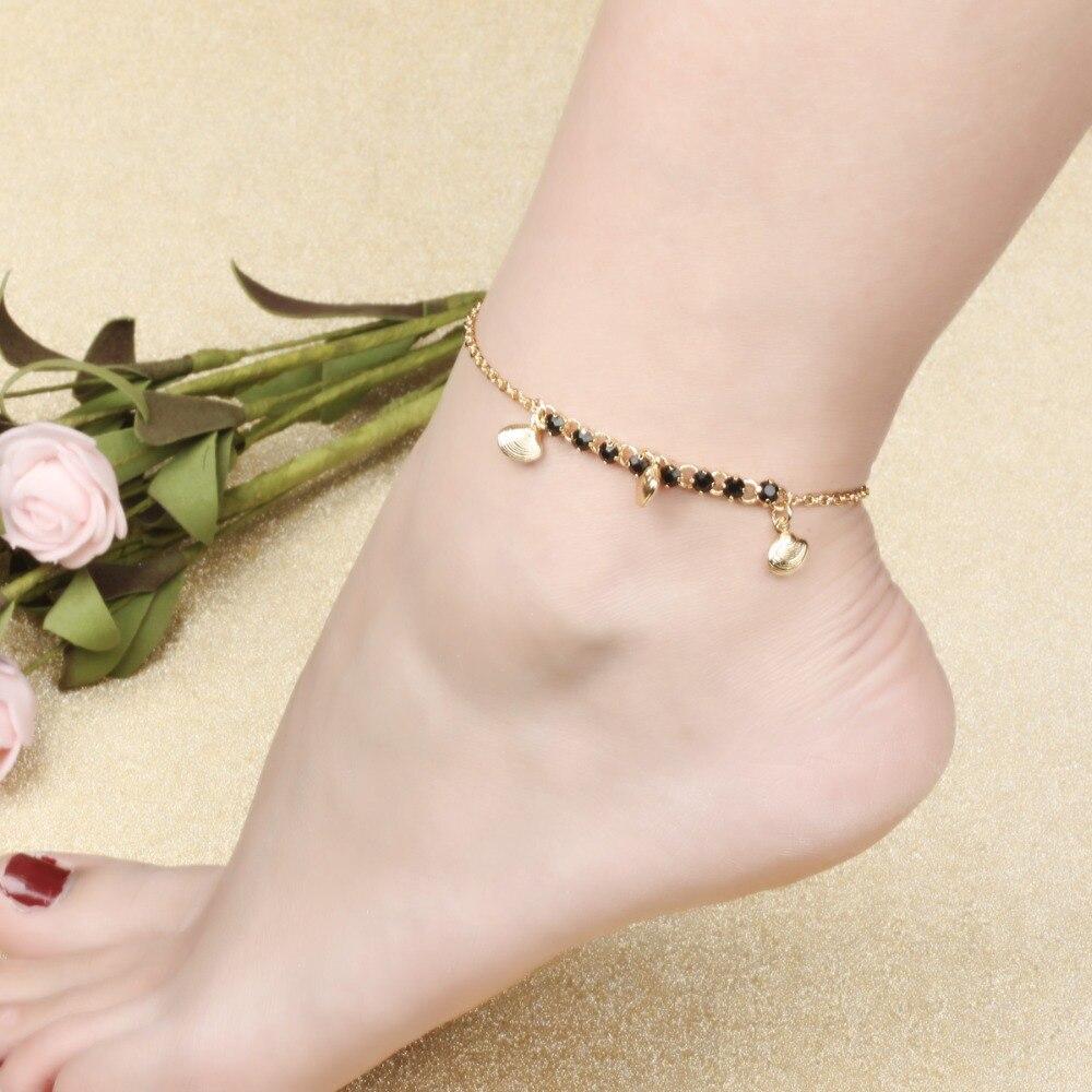 Shop Anklets Online Anklet Foot Jewelry Shell Anklet Bracelet Black