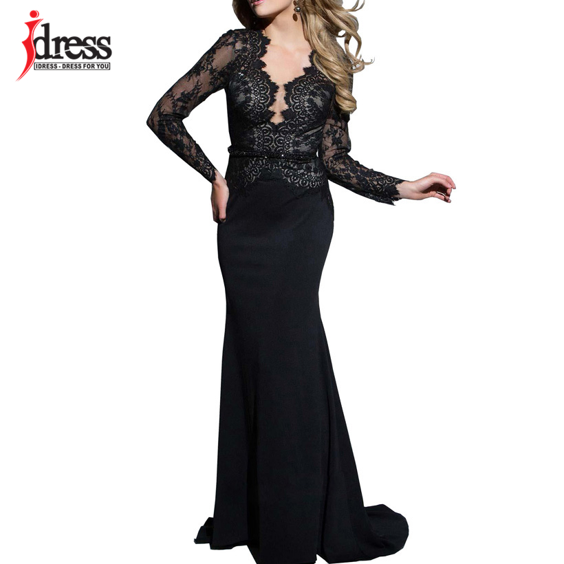IDress New Sexy Lace Vintage Mermaid Elegant Long Maxi Dress Formal Party Women Gown Special Occasion Dresses 2018 Vestido Longo (1)