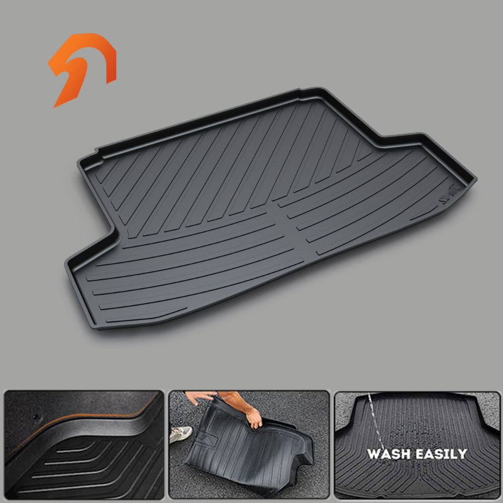 Non-slip RUBBER TRUNK TRAY CARPET MATS for Chevrolet SAIL SEDAN ORLANDO Captiva Cavalier BOOT LINER TRUNK CARGO MATS 2011-2016 custom fit car trunk mats for nissan x trail fuga cefiro patrol y60 y61 p61 2008 2017 boot liner rear trunk cargo tray mats
