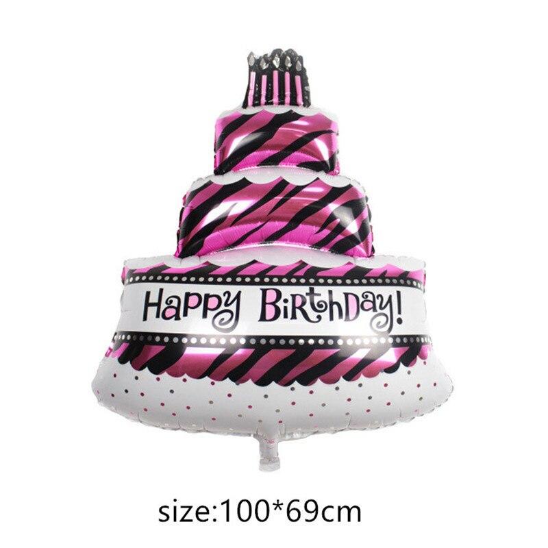 Воздушные шары из фольги для маленьких мальчиков, воздушные шары для детской коляски, шары для девочек на день рождения, надувные вечерние украшения, Детская мультяшная шапка - Цвет: 12