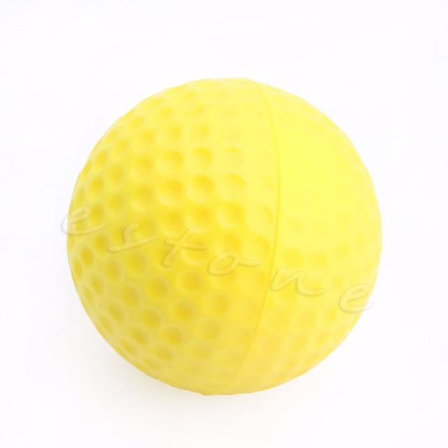 B39 New 10pcs Yellow Foam Golf Ball Golf Training Soft Foam Balls Indoor Practice Balls