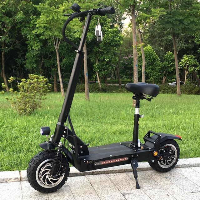 FLJ мощный Электрический скутер 60 в/3200 Вт Электрический самокат с 11 дюймов на дороге/бездорожье большое колесо на широком ободе ударный велосипед
