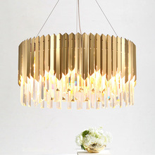 American living room dining crystal chandelier creative personality modern minimalist light luxury postmodern designer lamp