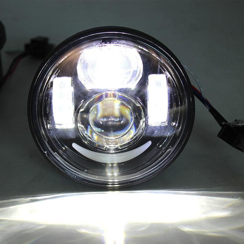 FADUIES 1pair Motorcykel 4.5Inch h4 Hög / Halvljus Med DRL Fat Bob - Motorcykel tillbehör och delar - Foto 5