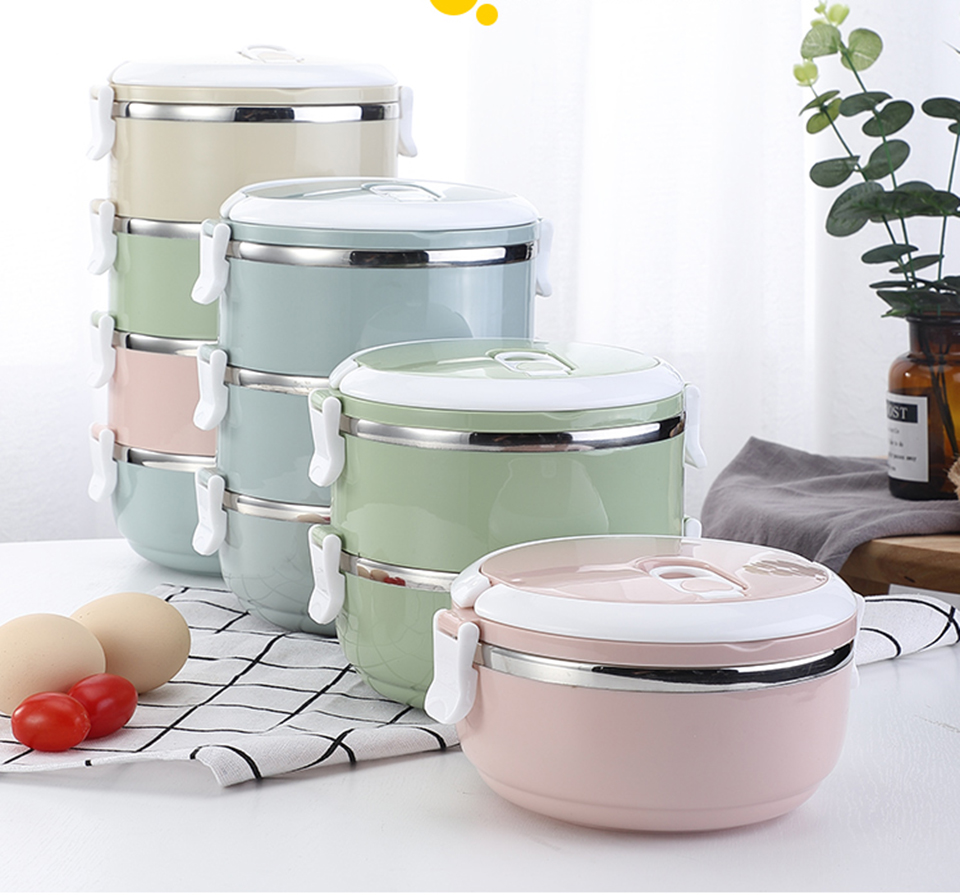 LIYIMENG 304 Stainless Steel Japanese Lunch Box Thermal For Food Portable LunchBox For Kids Picnic Office Workers School15