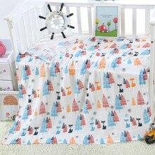 Хлопок детские пеленки с животным принтом муслин детские одеяла постельные принадлежности детское Пеленальное полотенце для новорожденных
