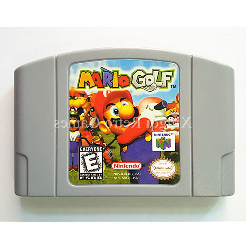 Nintendo 64 Game Mario Golf Video Game Cartridge Console Card English Language US Version