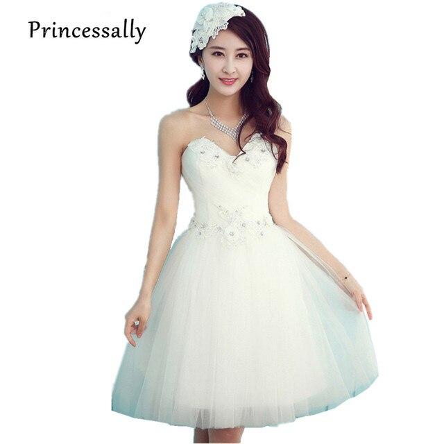 new sexy short wedding dress white sweetheart flower beading princess fashion design summer bride party dress