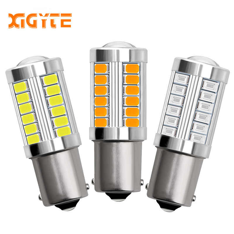 1piece 1156 BA15S P21W 33 led 5630 5730 smd Car Tail Bulb Brake Lights auto Reverse Lamp Daytime Running Light red white yellow