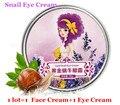 Free Shipping 1lot =2pcs  AFY Gold Snail Eye Cream Dark Circles Wrinkles +AFY Gold Snail Face Cream Anti Aging Moisturizing Acne